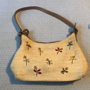Vintage Woven Beaded Fossil Purse